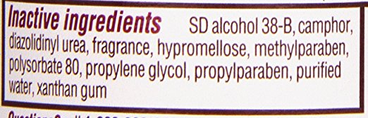 Caladryl Ingredients