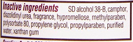 Caladryl Ingredients